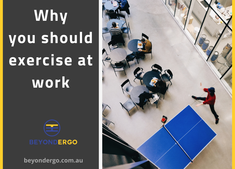 Why you should exercise at work